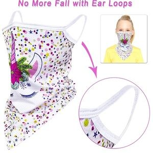 Kids Bandana Earloop Face Mask Scarf Accessories